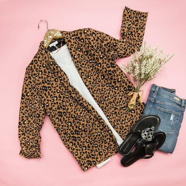 Leopard Work Blazer