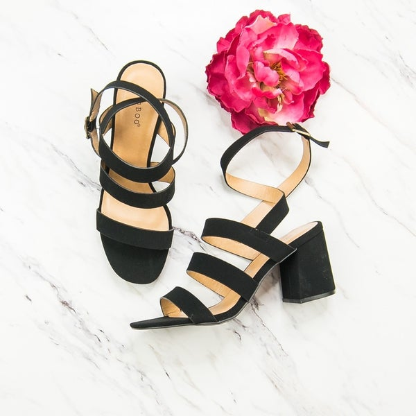Strappy Black Heels *all sales final*