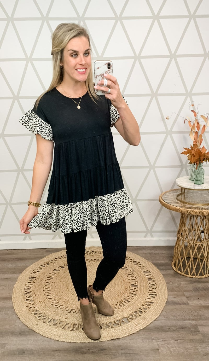 Leopard Tier Tunic *all sales final*