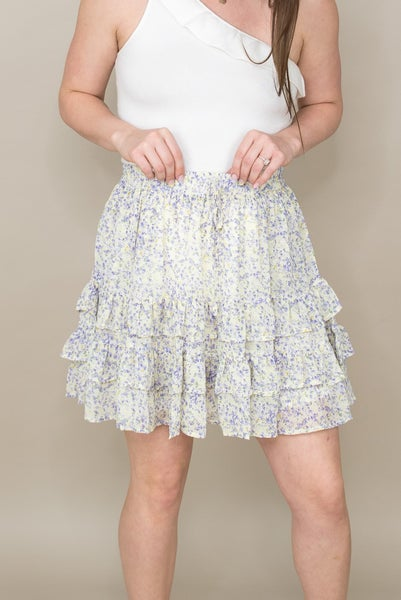 Sunny & Floral Tier Skirt