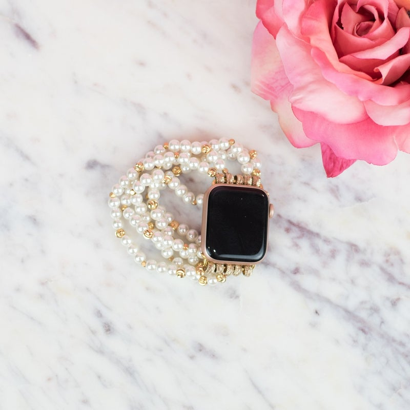 Pearl + Gold Apple Band