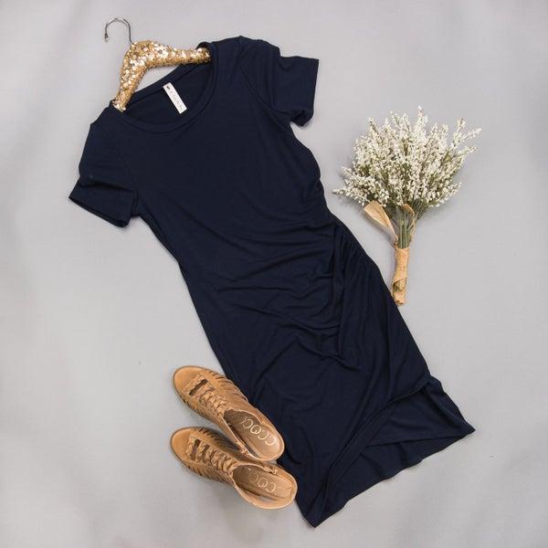 Deep Navy Blogger Dress