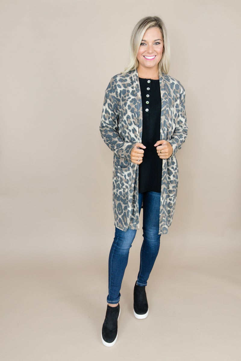 Muted Leopard Cardigan
