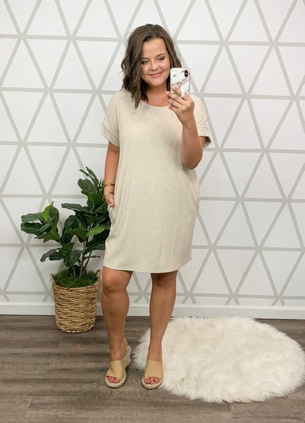 Oatmeal Boyfriend Dress