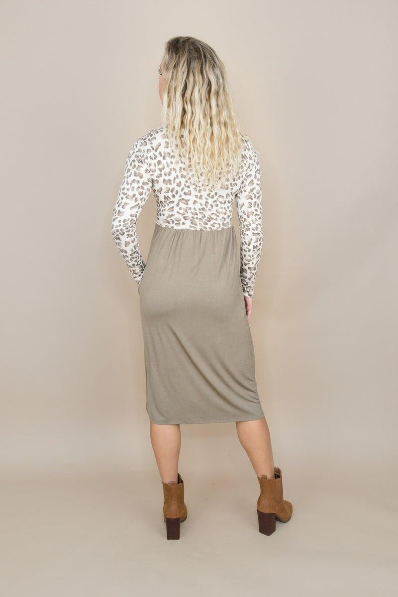 Flattering Leopard Dress(repost)