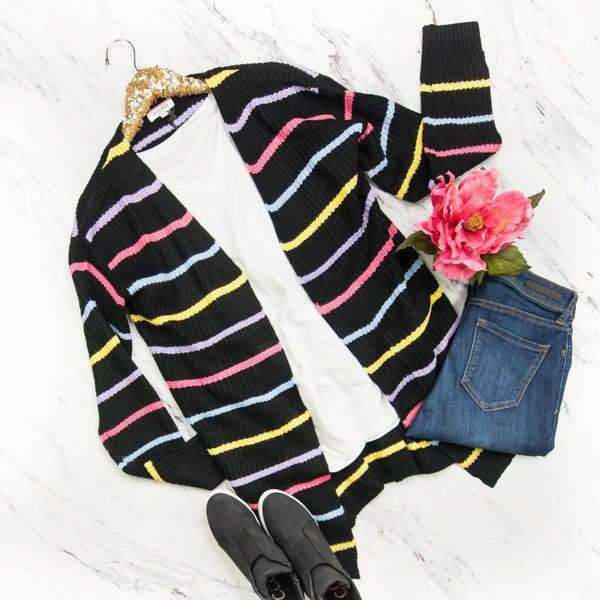 Shades of Spring Stripe Cardigan