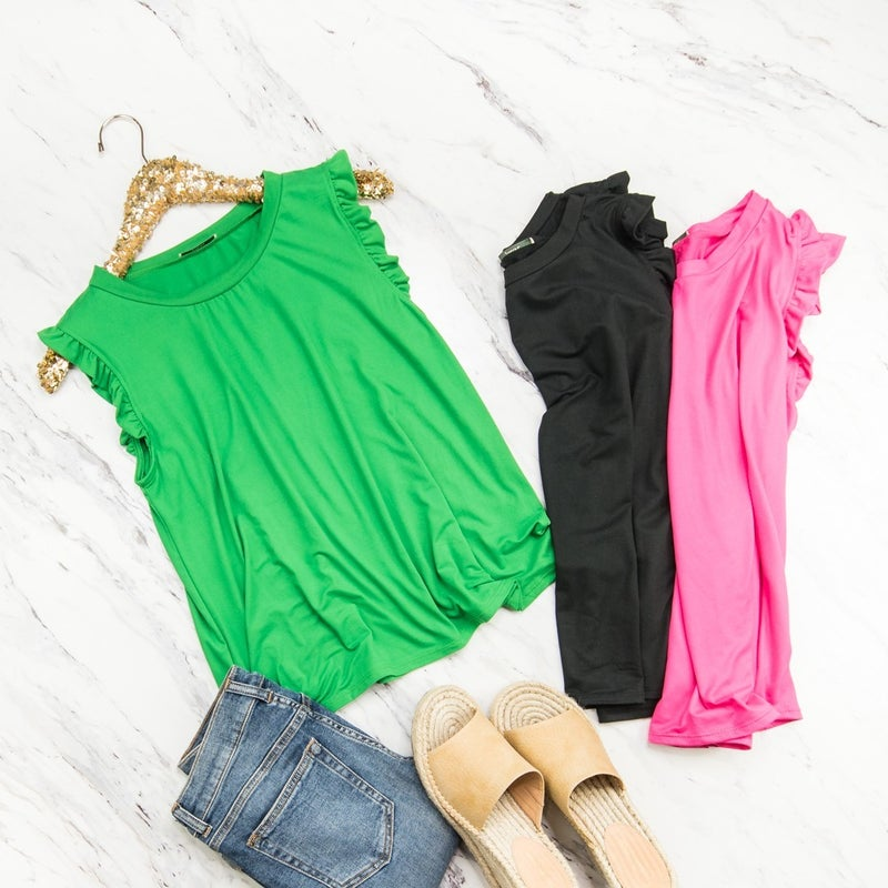 Delicate Ruffle Tank *all sales final*