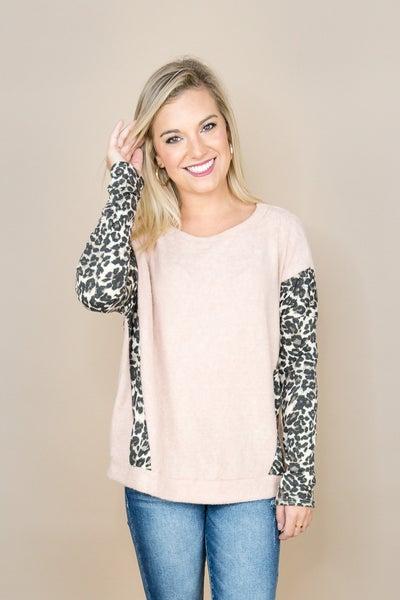 Blush Leopard Top