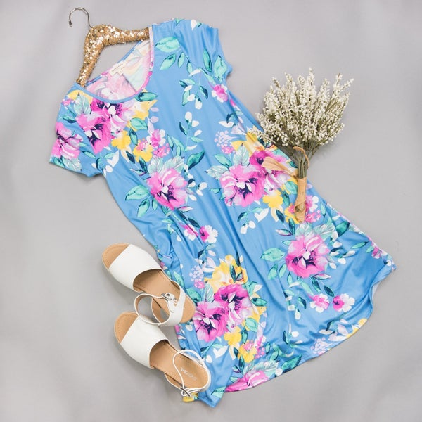 Perfectly Blue & Floral Dress