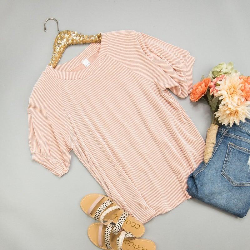 Peaches & Stripes Tee