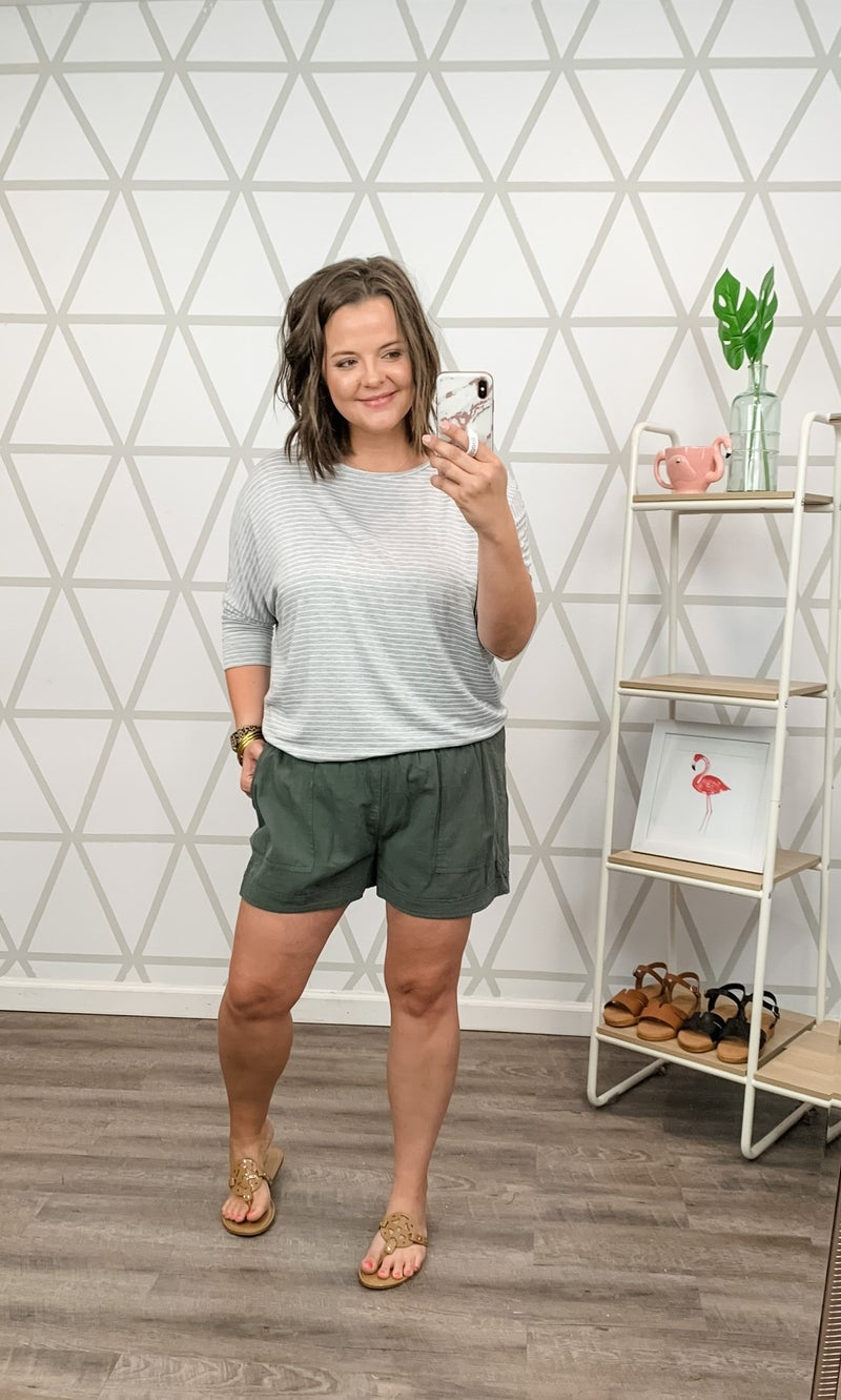 Staccato Simple Gray Top