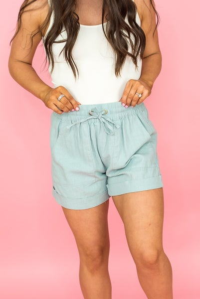 Beach Babe Linen Shorts