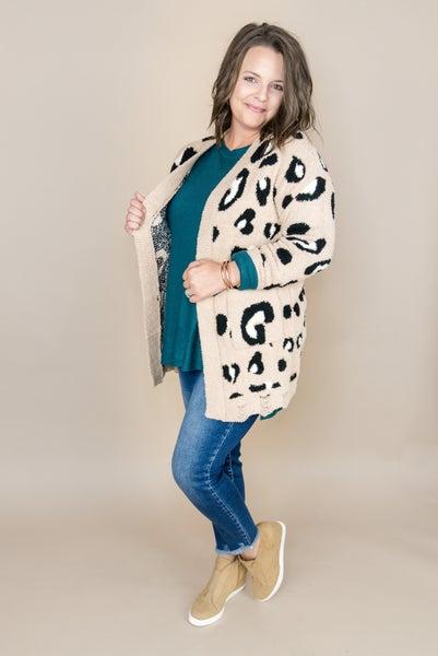 Distressed Leopard Cardigan