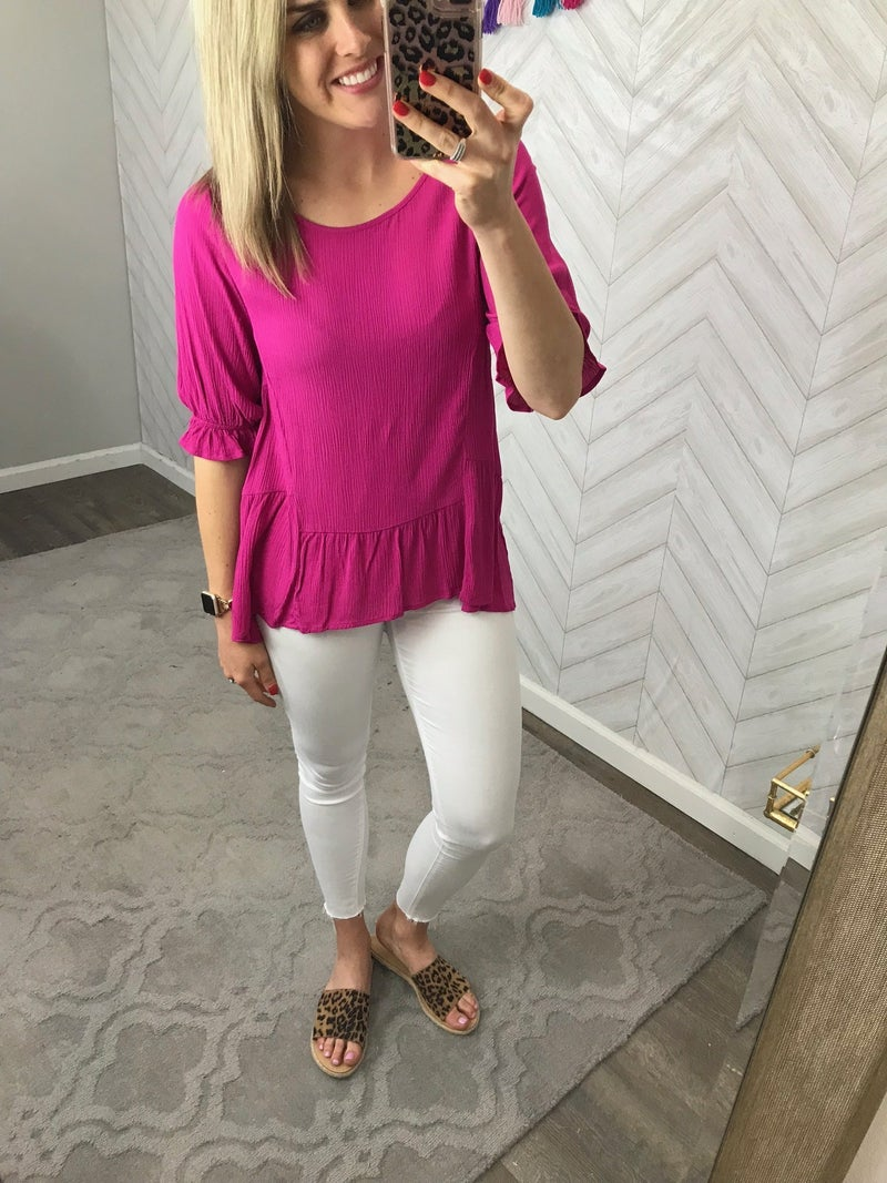 Not too Basic Top *ALL SALES FINAL*
