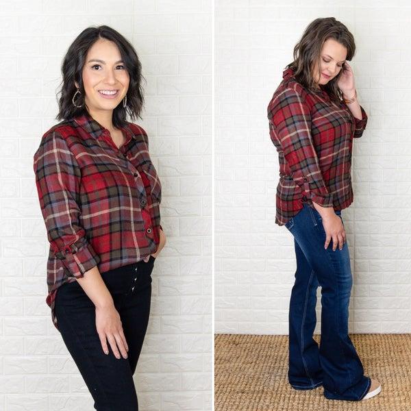 Brick Flannel Top