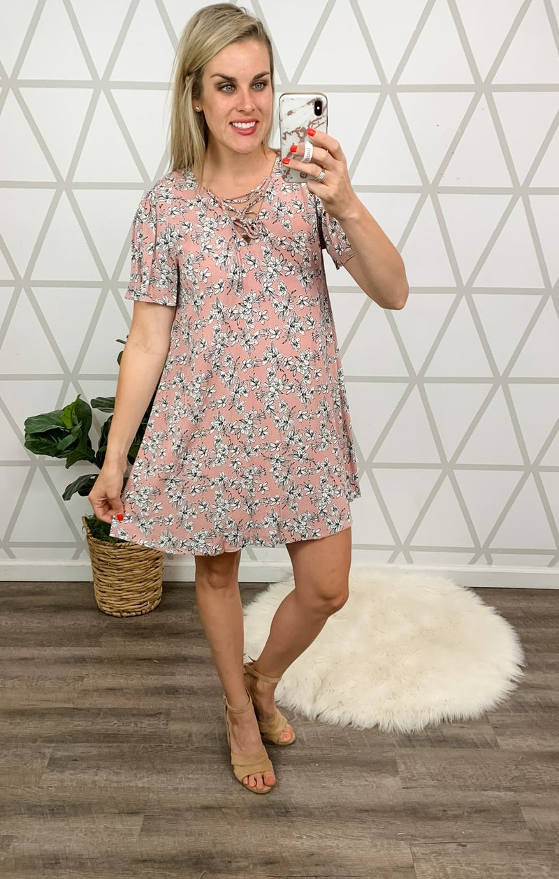 *HAPPY HOUR* Sunny & Floral Dress *all sales final