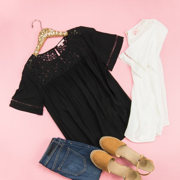 Basics & Lace Blouse