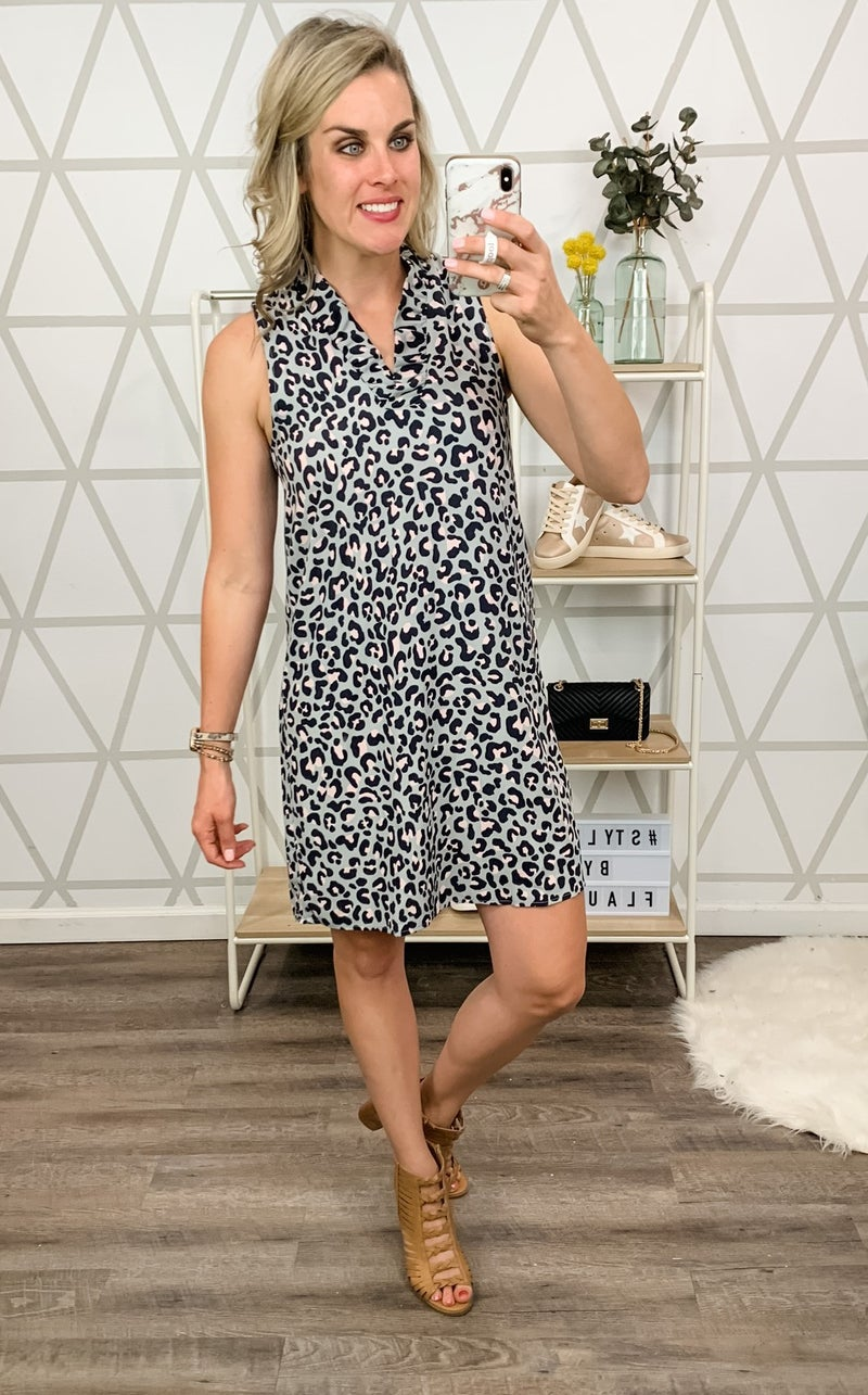 Steal My Heart Leopard Dress  *all sales final*