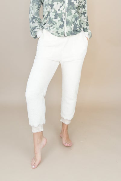 Cream Teddy Lounge Pants