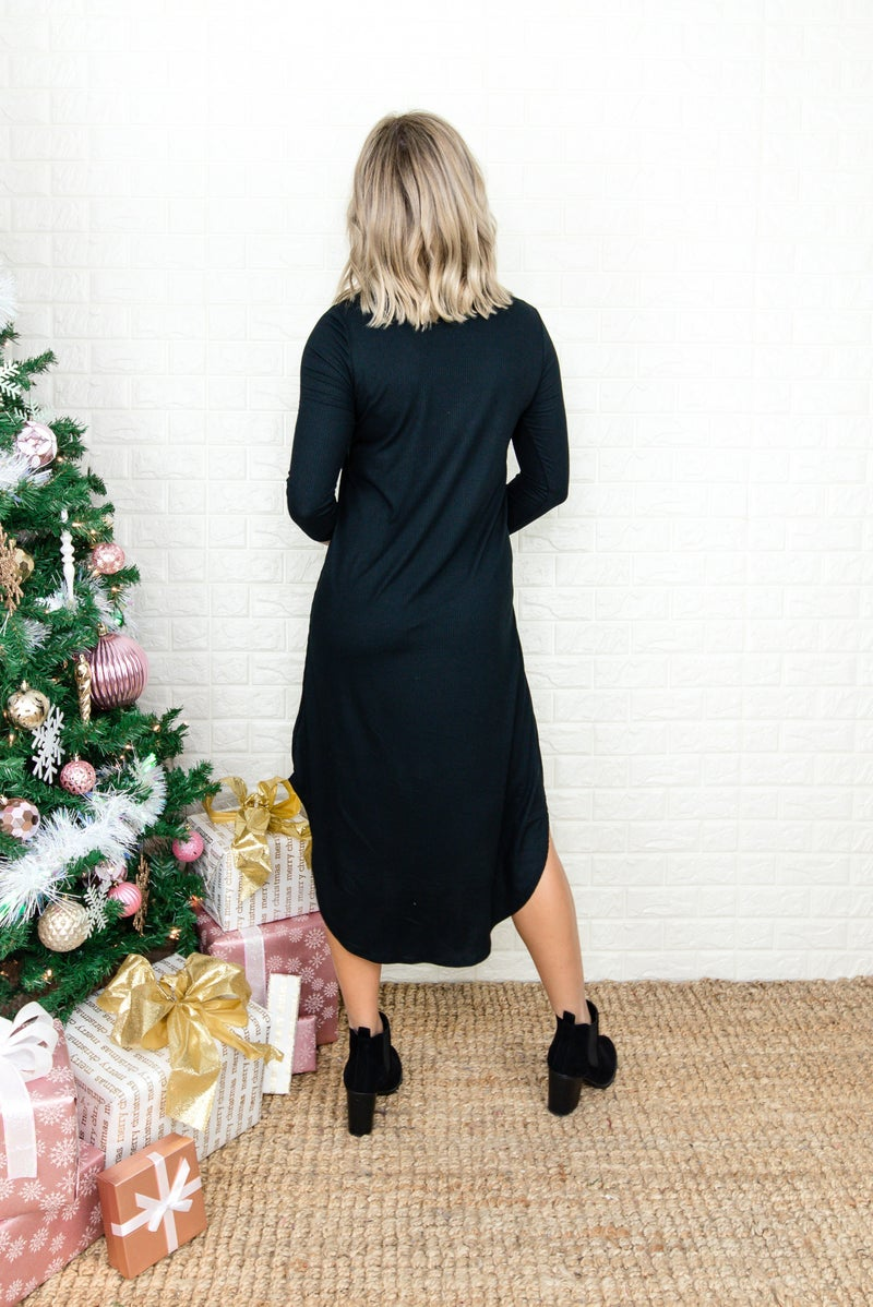 Little Black Midi Dress