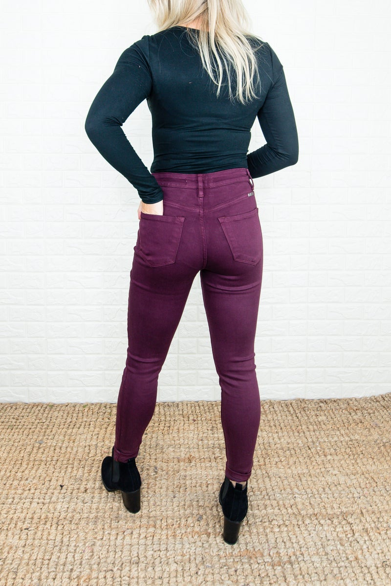 KanCan Burgundy Skinny Denim