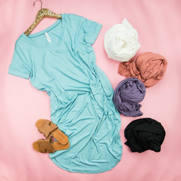 HAPPY HOUR// All Around T-Shirt Dress*all sales final*