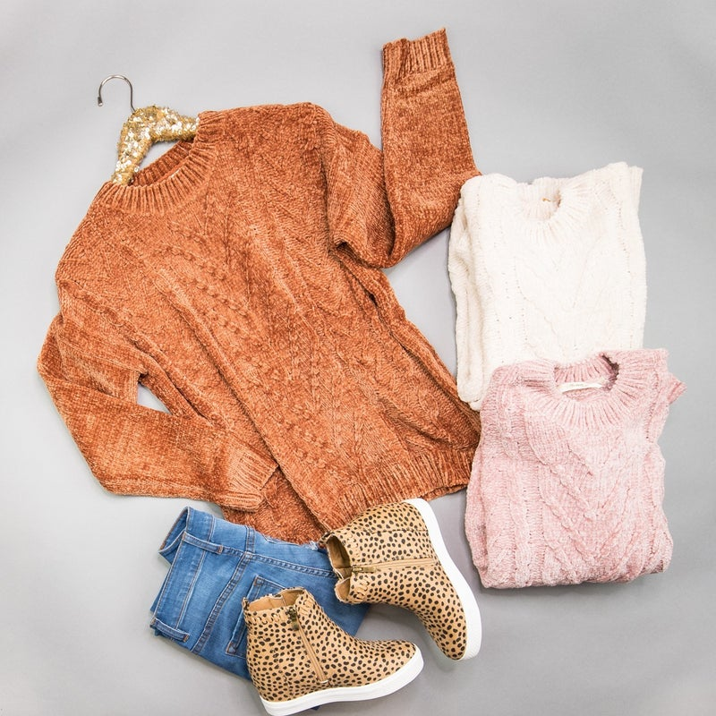 Chenille Textured Sweater *ALL SALES FINAL*
