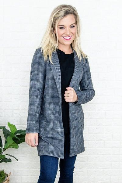 Gray Plaid Jacket *all sales final*