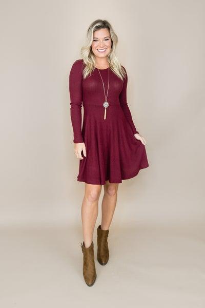 Slimming Wine Dress *all sales final*