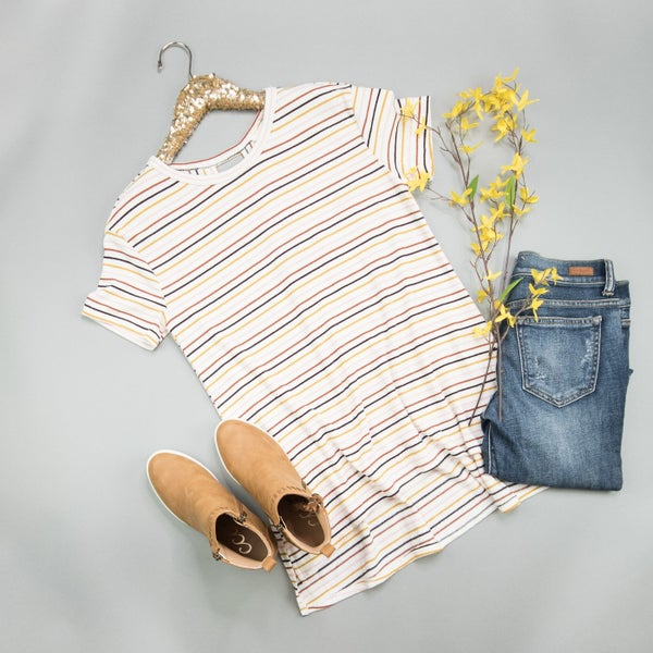 Flaunt Favorite Multi-Striped Tee