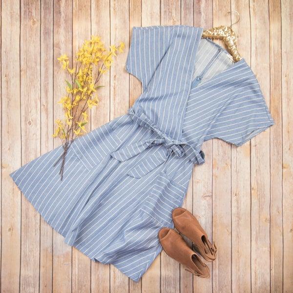 Stripe Tie Dress *ALL SALES FINAL