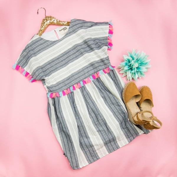 Neon Tassel Vacation Dress *all sales final*