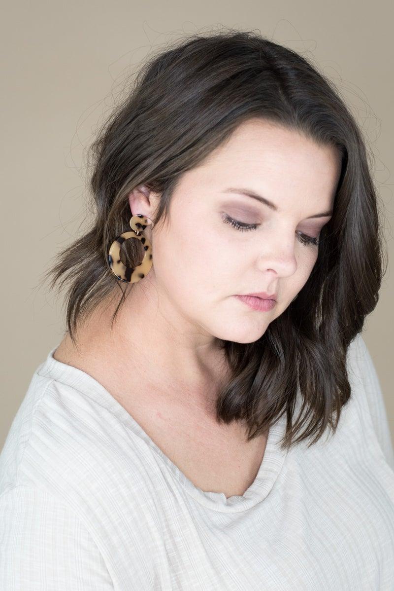 Dangle Tortoise Earrings