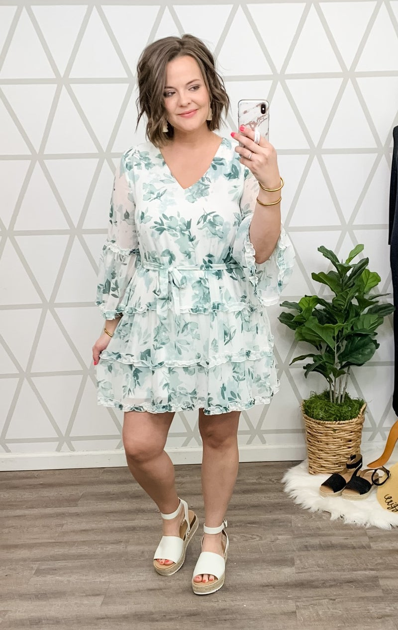 Delicate Spring Ruffle Dress *ALL SALES FINAL