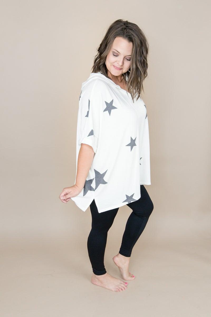 White Star Poncho Tee