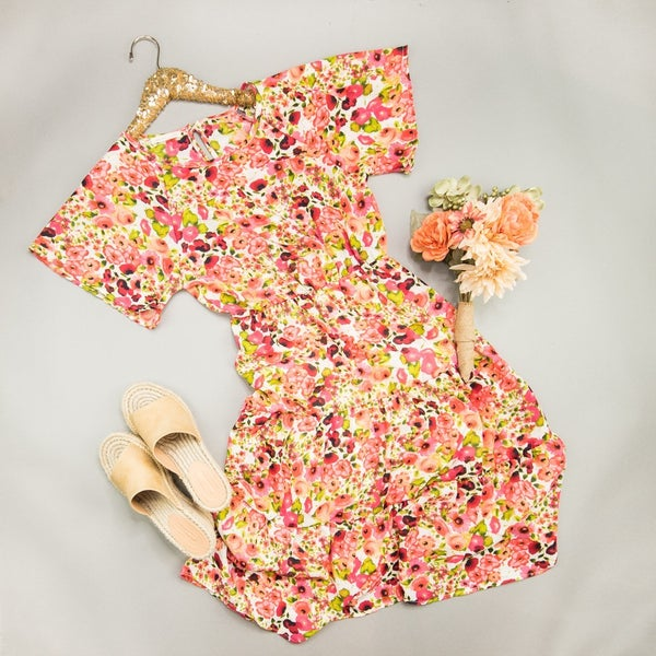 Prettiest Fall Floral Dress