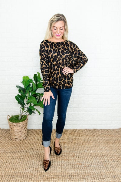 Sassy Leopard Top