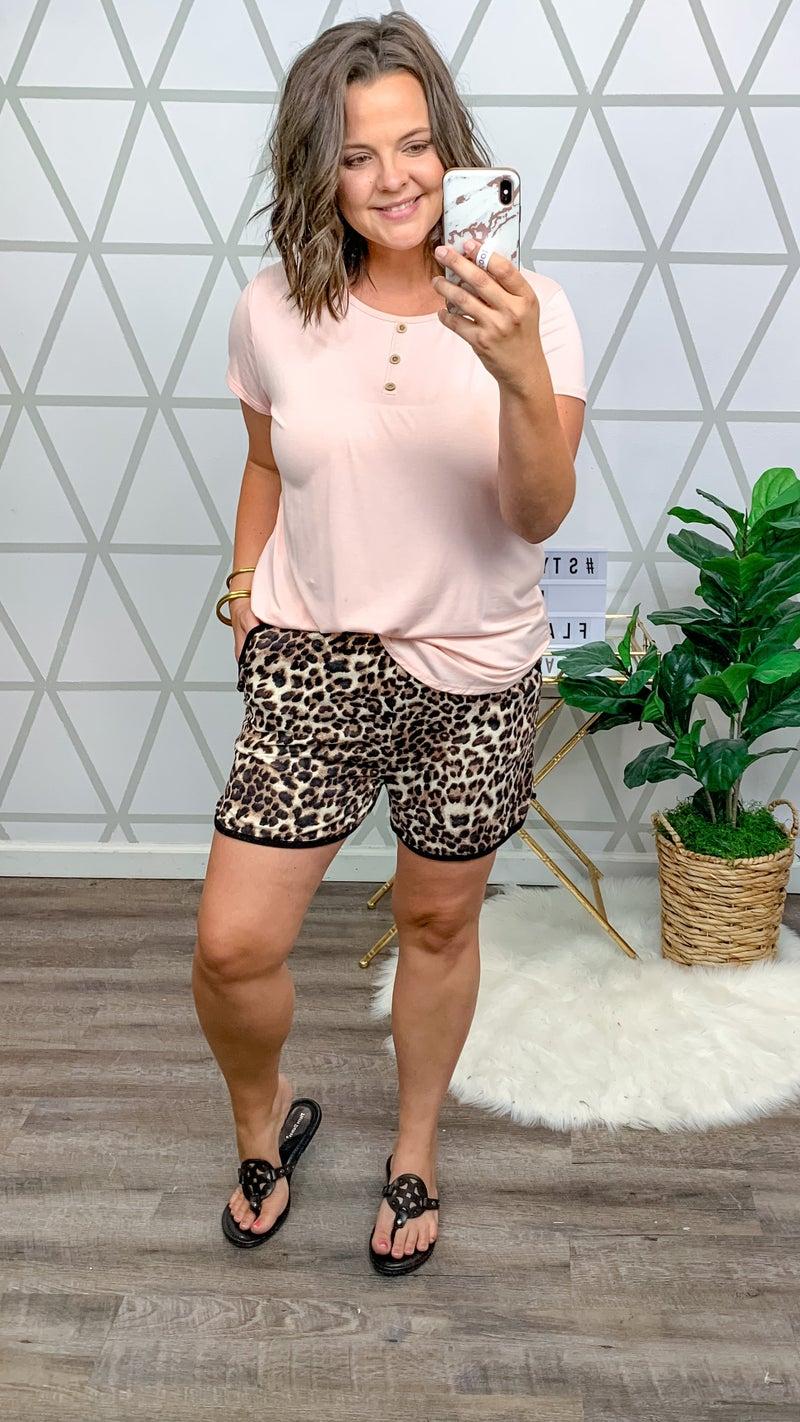 Stretchy Cozy Leopard Shorts