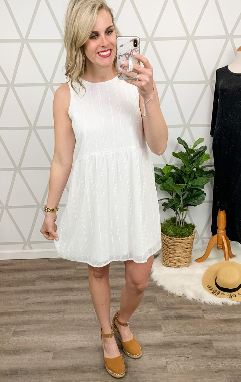Andree Simply White Dress *ALL SALES FINAL*