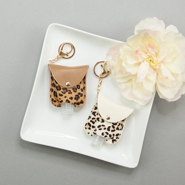 Leopard Keychain Sanitizer Holder