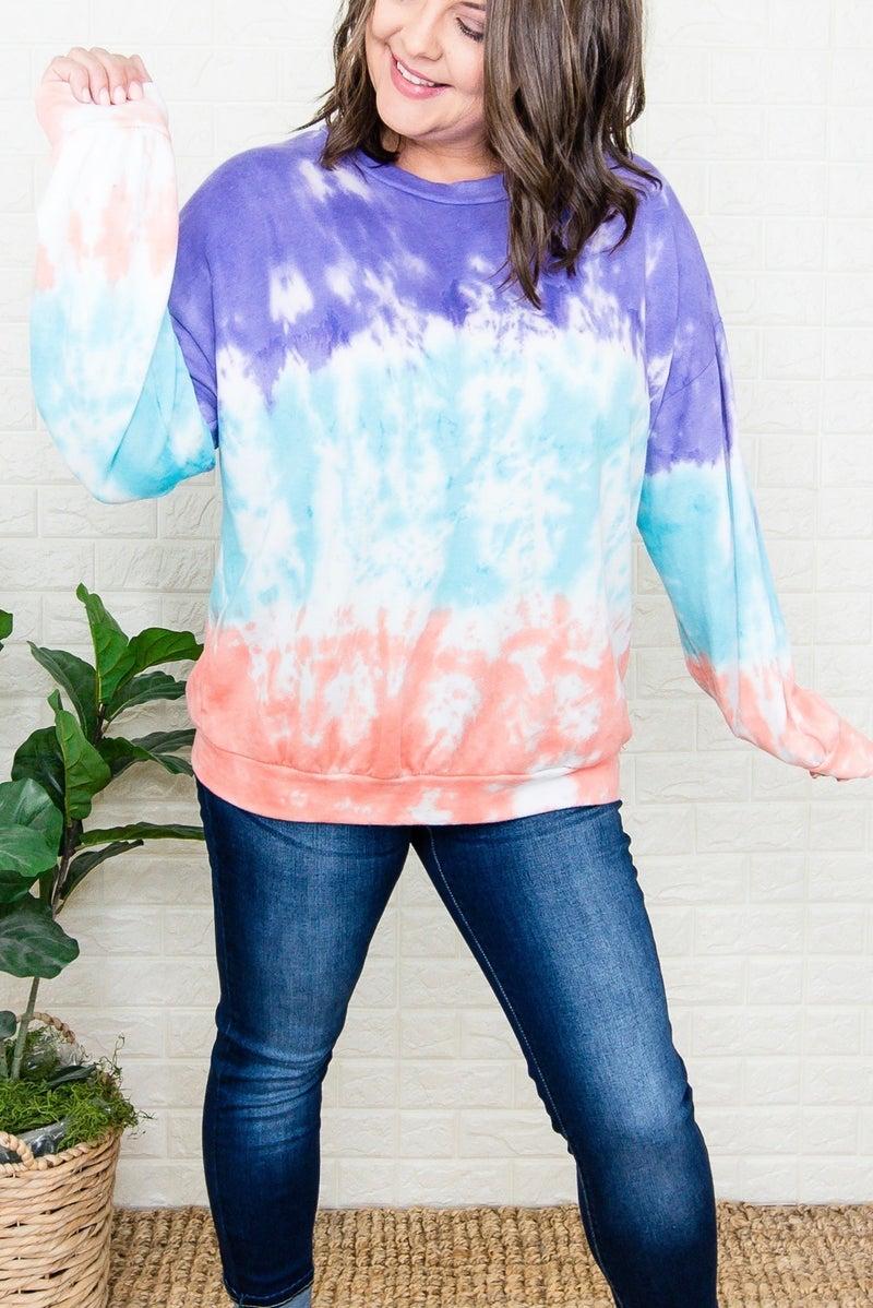 Block Tie Dye Sweatshirt