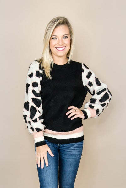 Staccato Leopard Sweater