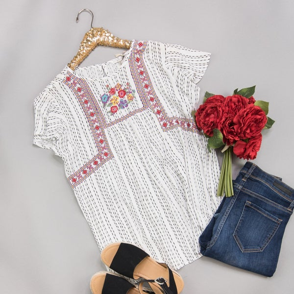 Flutter Embroidery Blouse