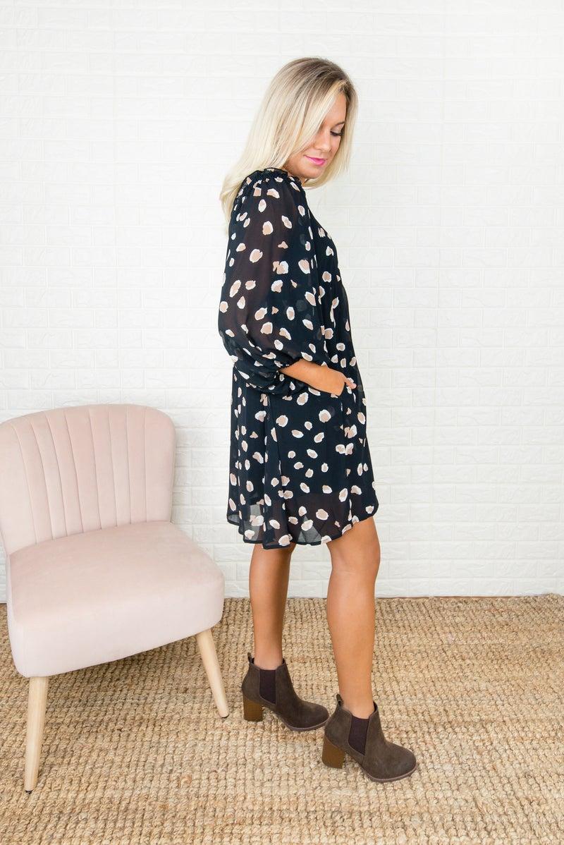 Spotty Leopard Dress