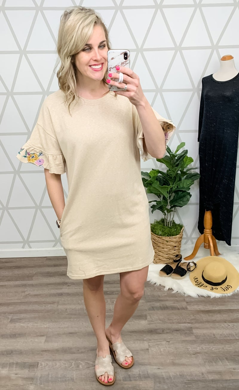 Sand Embroidery Dress