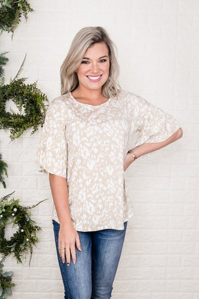 Smudge Ruffle Top