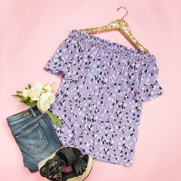 Purple & Flirty Top