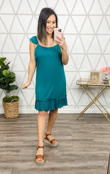 Sassy Teal Dress