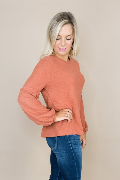 Rust & Ruffles Top