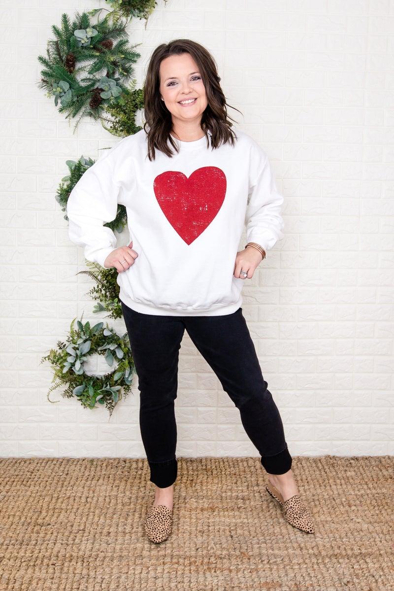 Distressed Heart Sweatshirt